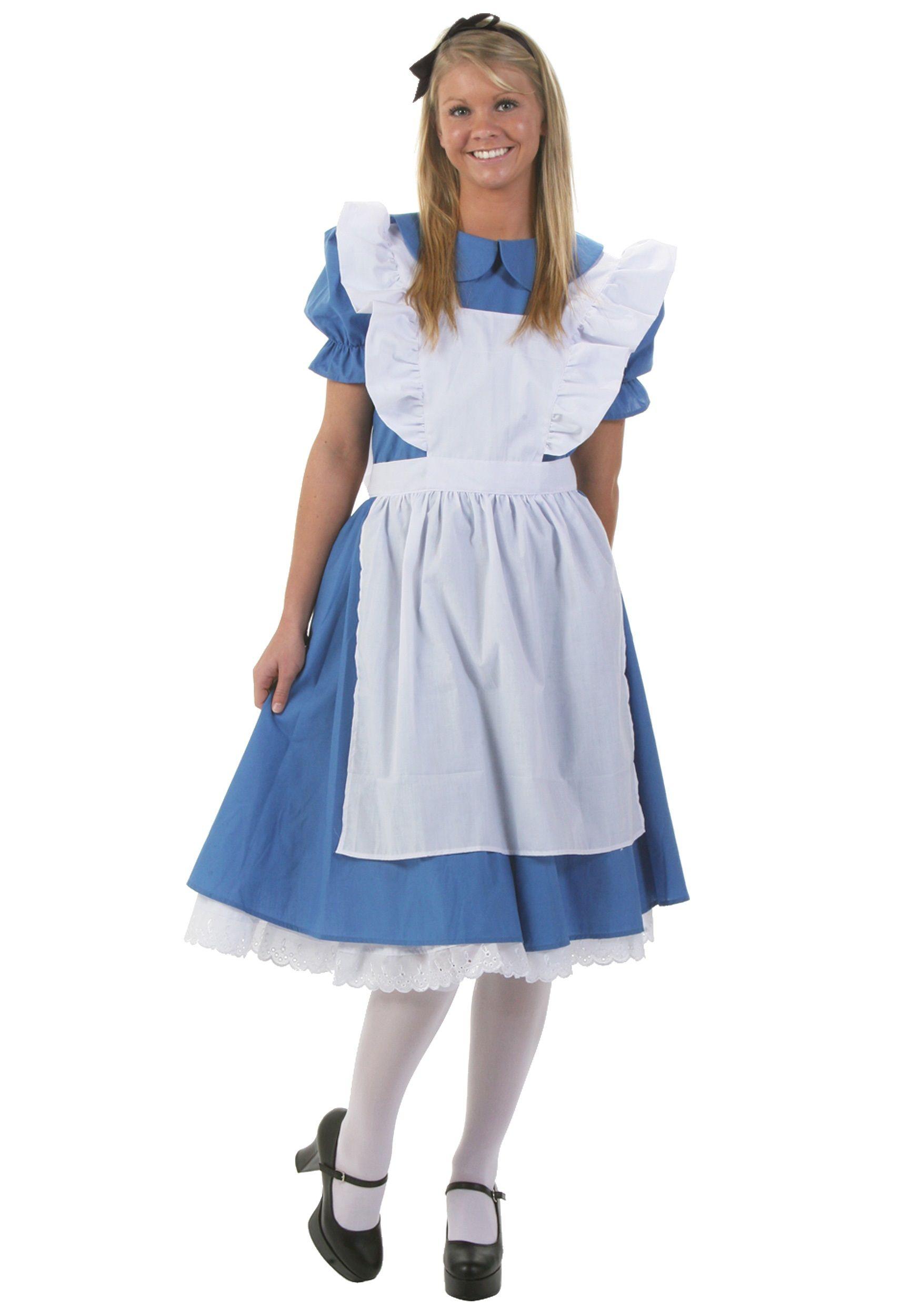 White apron alice wonderland costume - Adult Deluxe Alice Costume