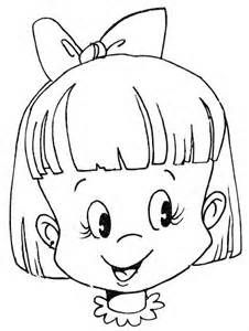 Empty Girl Face Coloring Page Wecoloringpage