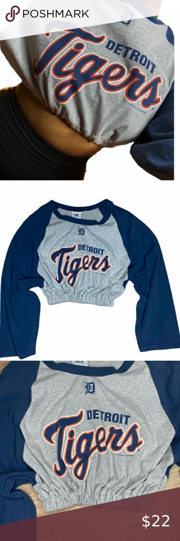 Vintage Detroit Tigers Reworked Crop Top Crop Tops Tops Detroit Tigers [ 1740 x 580 Pixel ]