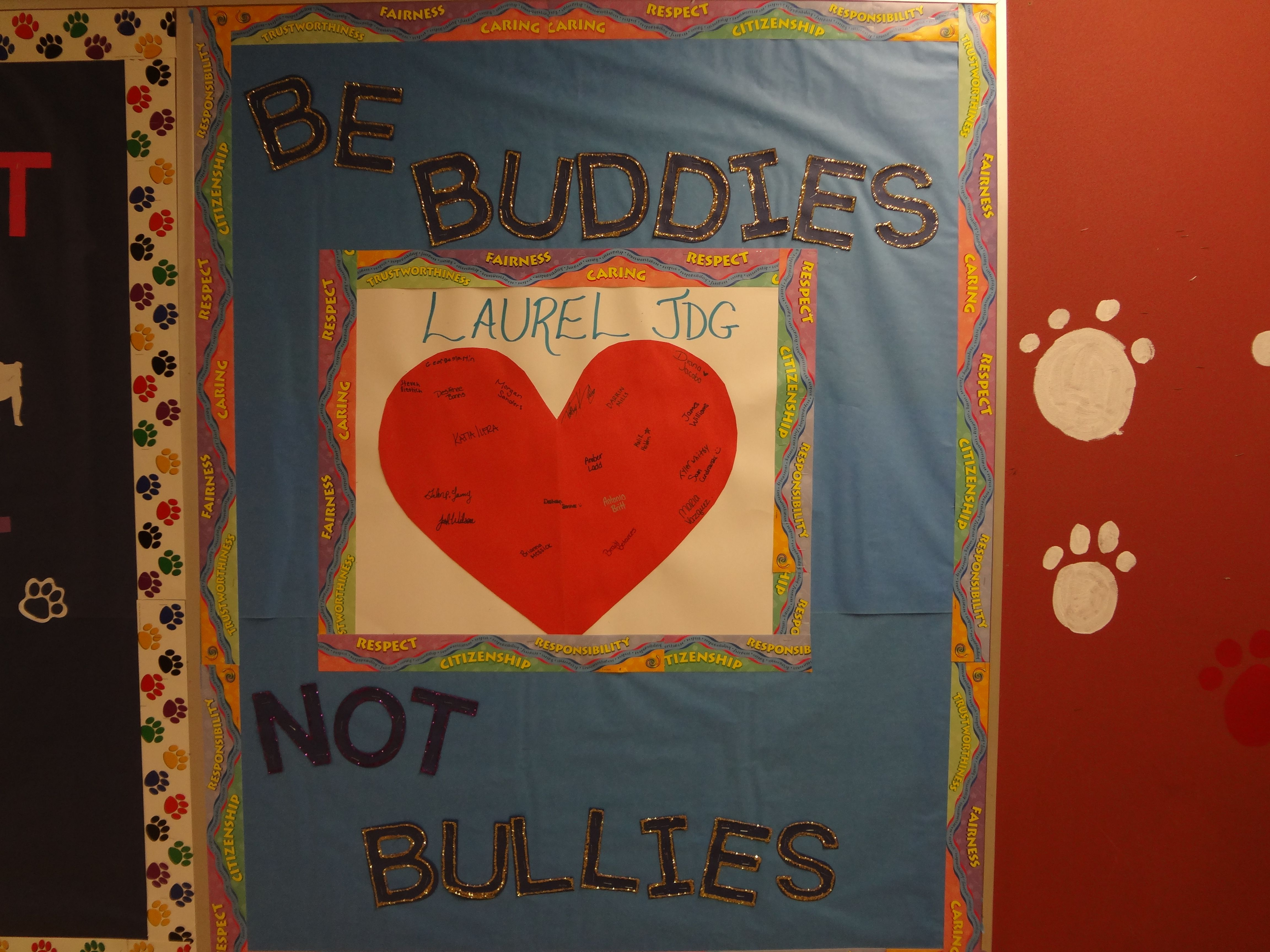 Be A Buddy Not A Bully Campaign