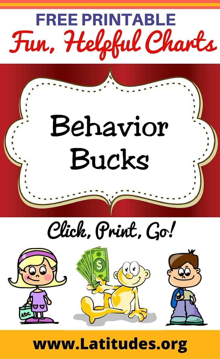 FREE Printable Behavior Bucks for Kids | Behavior Charts ...