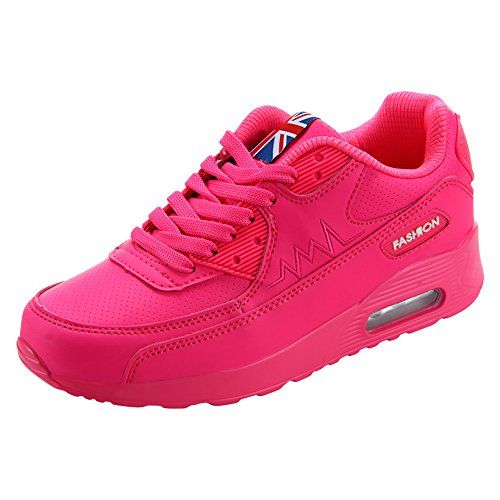 lowest price d0eb8 015ce Padgene Femme Baskets Course Gym Fitness Sport Chaussures Air Rose Taille EU  37
