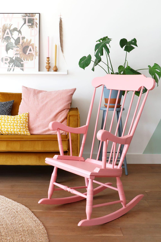 MY ATTIC SHOP / vintage / pink rocking chair / schommelstoel www ...