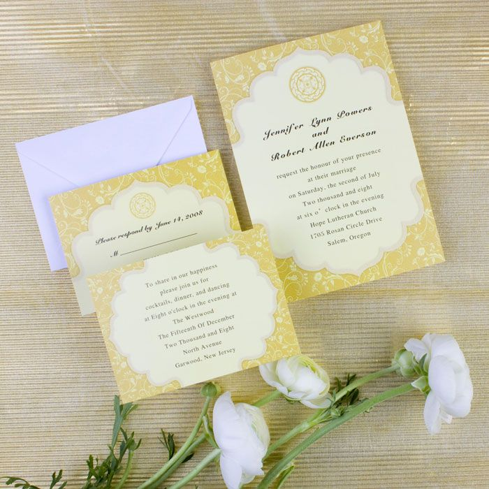 Chic Vintage Summer Wedding Yellow And Turquoise Fall Wedding Cards Yellow Wedding Invitations Inexpensive Wedding Invitations