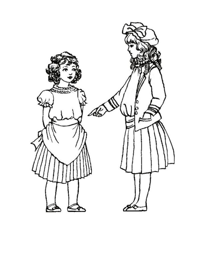 Coloring pages of children wearing afo ~ Site with clothing/costuming by era Colouring in Picture ...