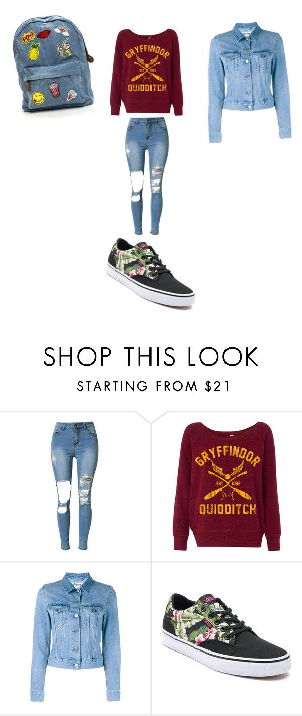 """""""Untitled #28"""" by ellen7ellen ❤ liked on Polyvore featuring Acne Studios and Vans"""