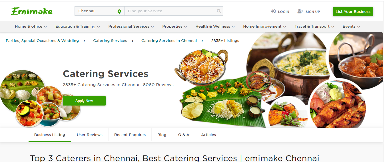 Top 3 Caterers In Chennai Best Catering Services Emimake Chennai In 2020 Catering Services Catering Outdoor Catering