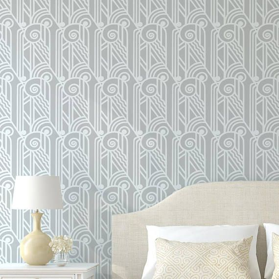 ACANTHUS Greek / Art Deco Stencil WALL STENCILS INCLUDE: Top edging ...