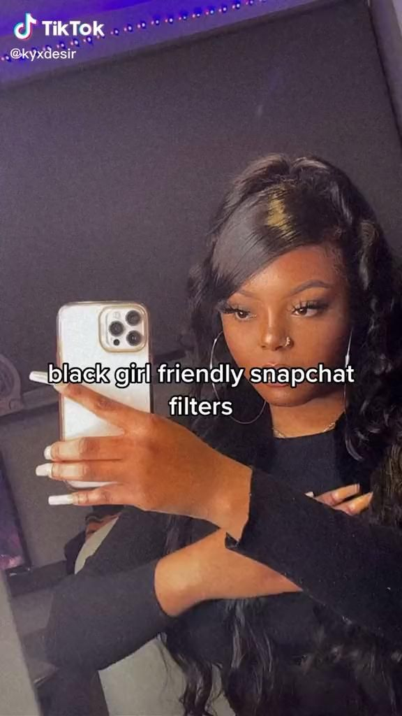 Black Girl Friendly Filters Video In 2021 Black Girl Snapchat Filters Selfie Insta Photo Ideas