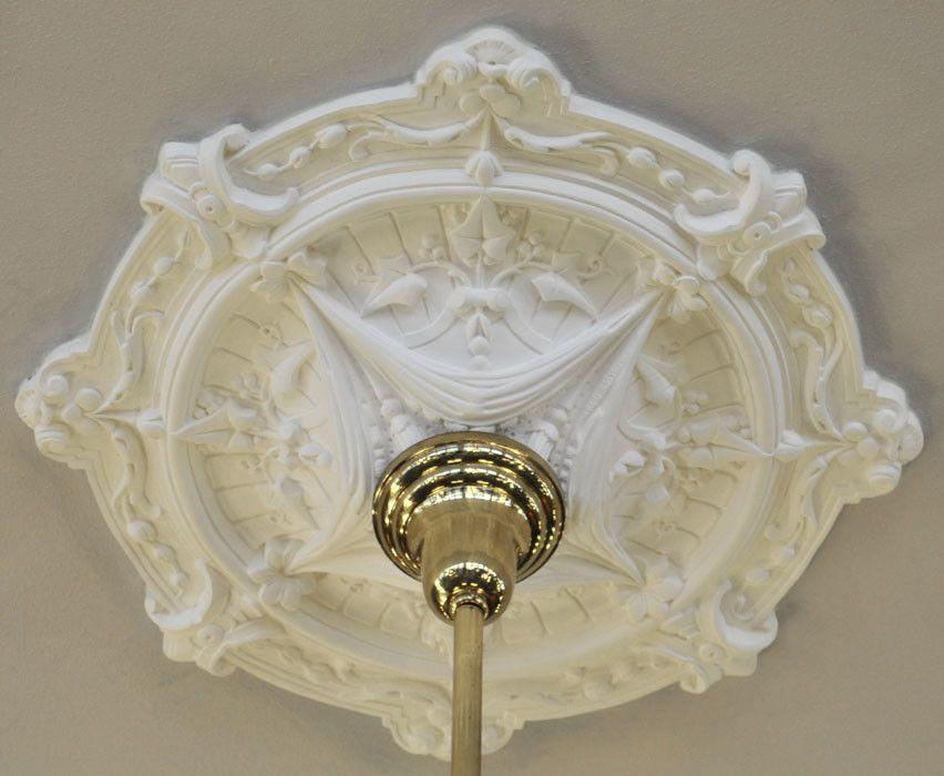 Real Plaster Ceiling Medallion Ivy Swag Design 25 Diameter Zk 11 Ceiling Medallions Victorian Ceiling Medallions Plaster Ceiling