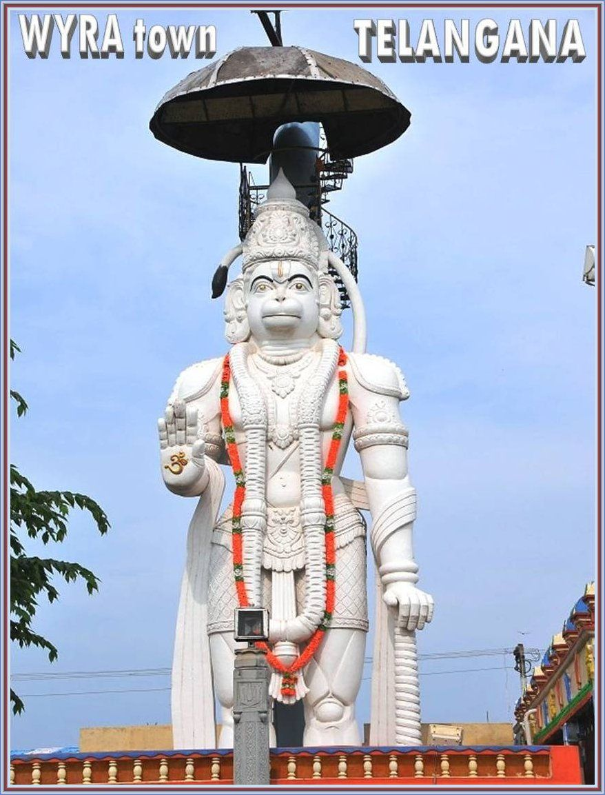 45 Feet Height Biggest Lord Abhaya Anjaneya Swami Statue Is
