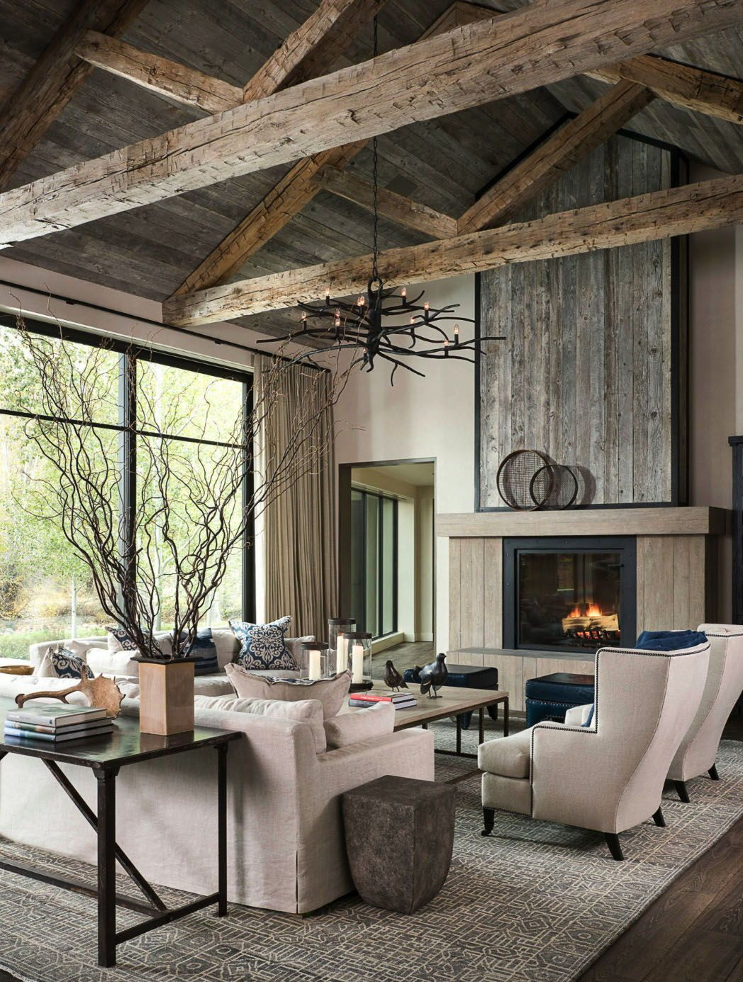 Absolutely stunning farmhouse modern home nestled on an Idaho river
