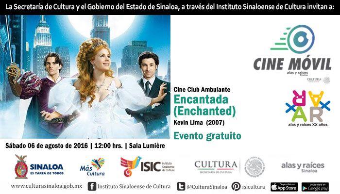 Cine Club Ambulante te invita a la proyección del filme: Encantada. Sábado 6 de agosto de 2016 en la Sala Lumière del ISIC, a las 12:00 horas. Entrada libre. #Culiacán, #Sinaloa.