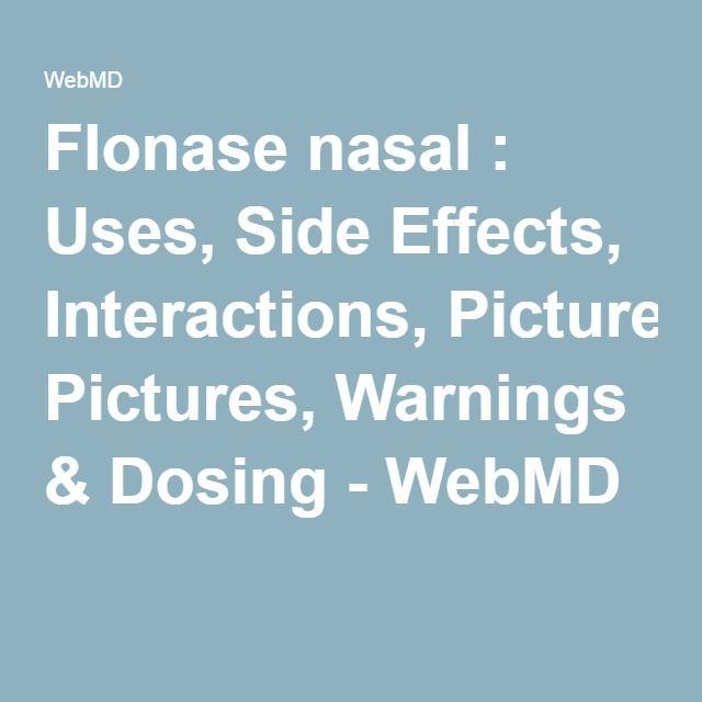 Flonase warnings