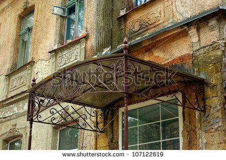 old wrought-iron canopy over the door of an old house - buy this stock photo on Shutterstock u0026 find other images. & wrought iron glass dome front door canopy - Google Search ...