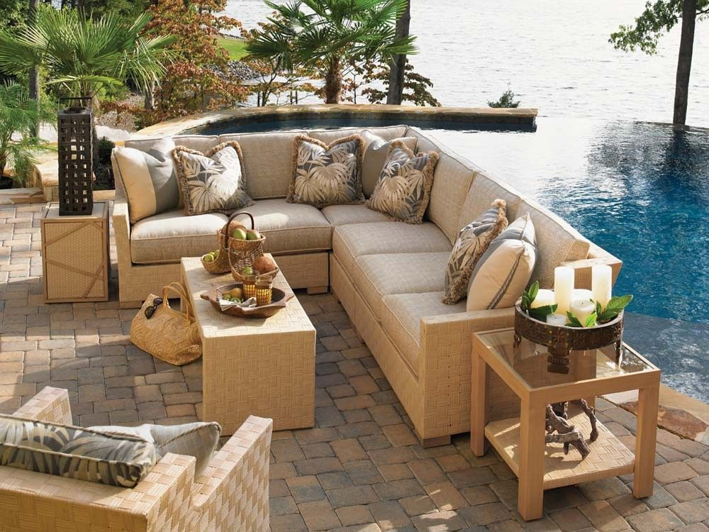 Tommy Bahama Outdoor Living Canberra Surf And Sand Sectional Sofa Lexington Home Brands