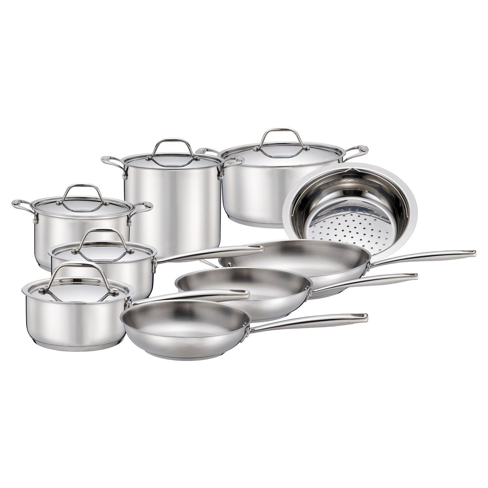 Threshold 14 Pc Stainless Steel Cookware Target 129 99