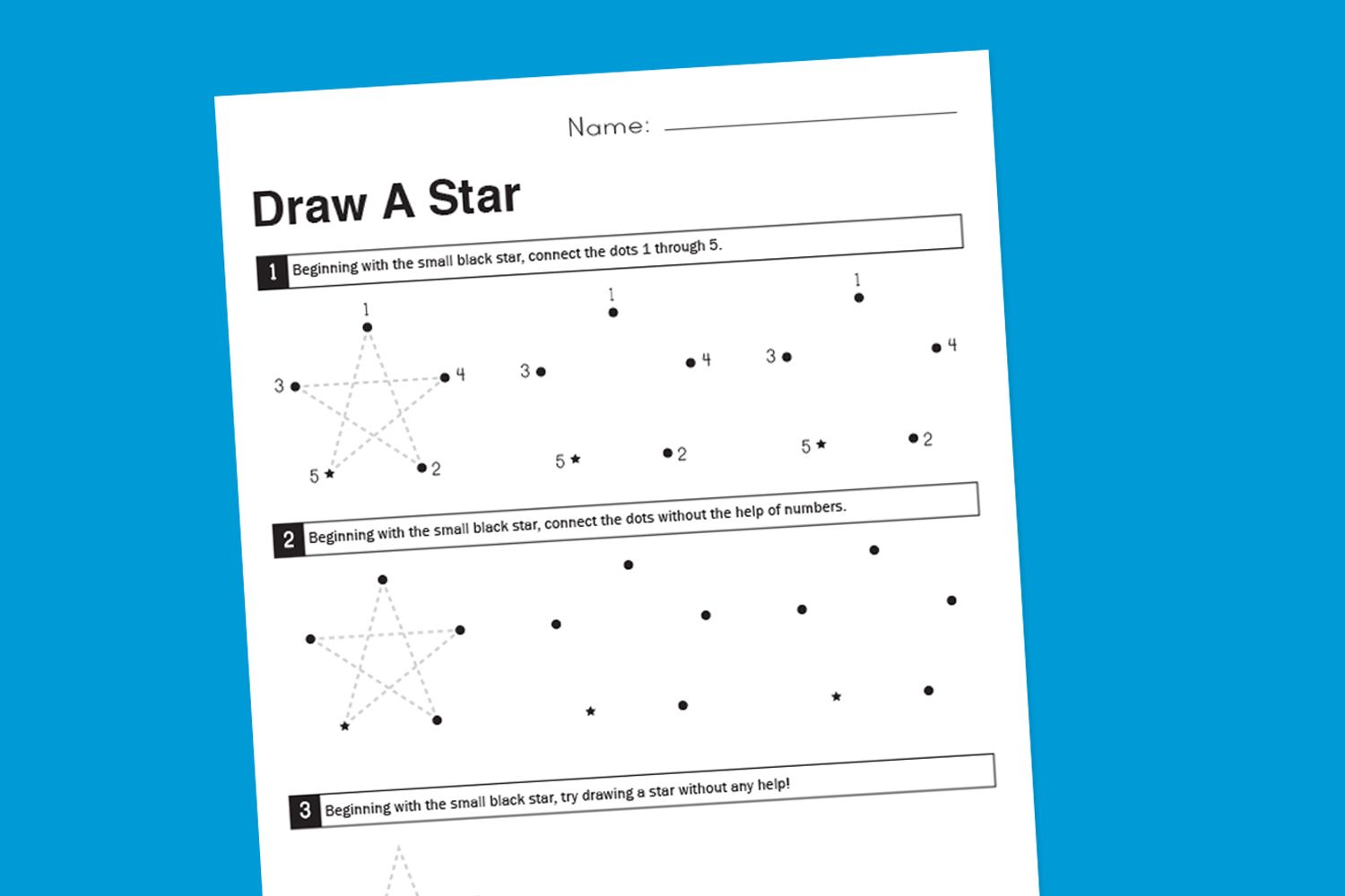 Worksheet Wednesday How To Draw A Star
