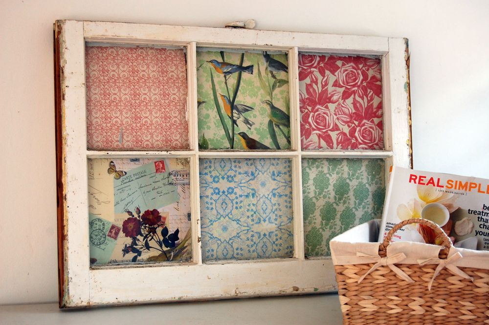 Upcycle old windows. Make dollar store frames look aged and use ...
