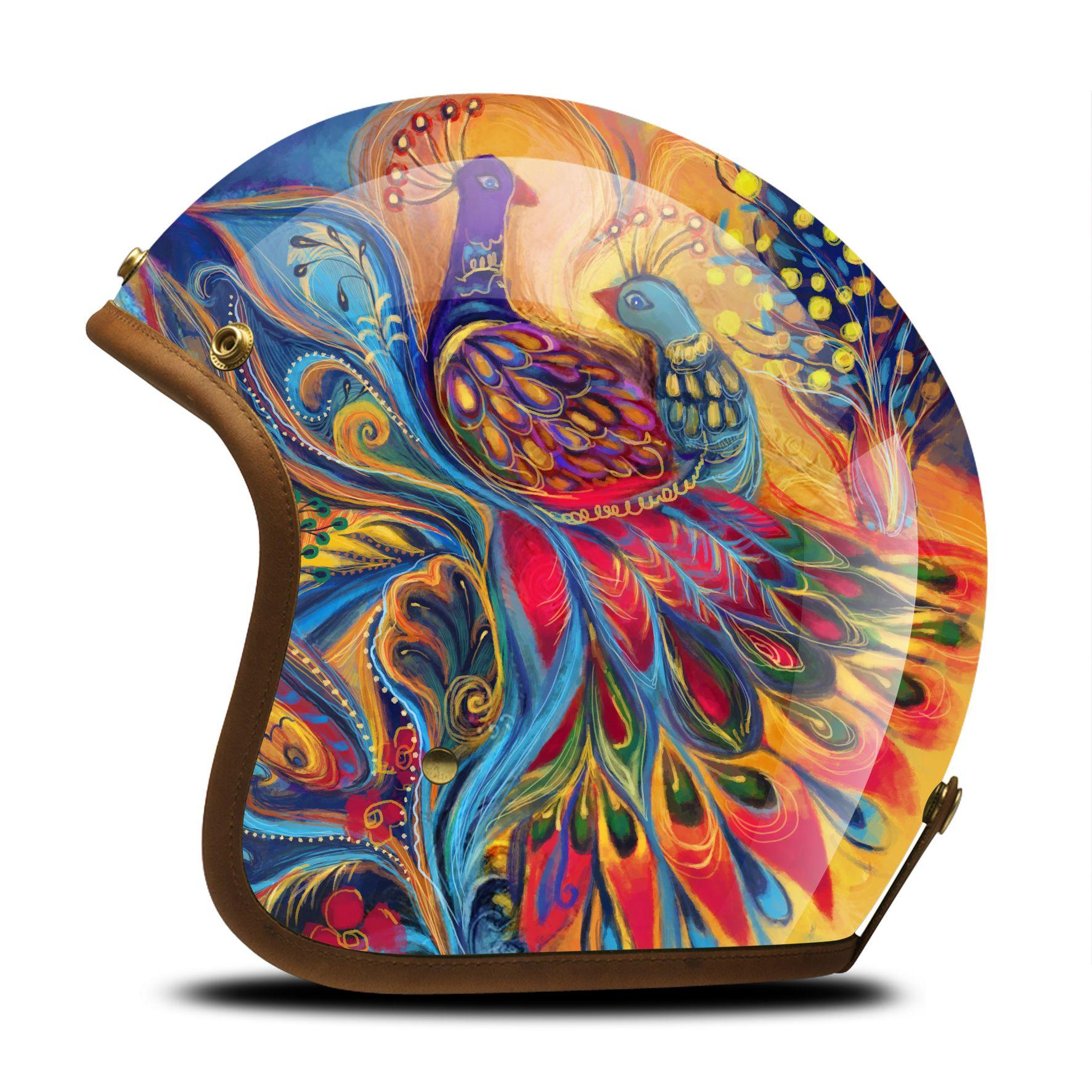Cafe Racer Helmet Custom Helmets Motorcycle Shell Art Paint Biker Motorcycles Skull Cap