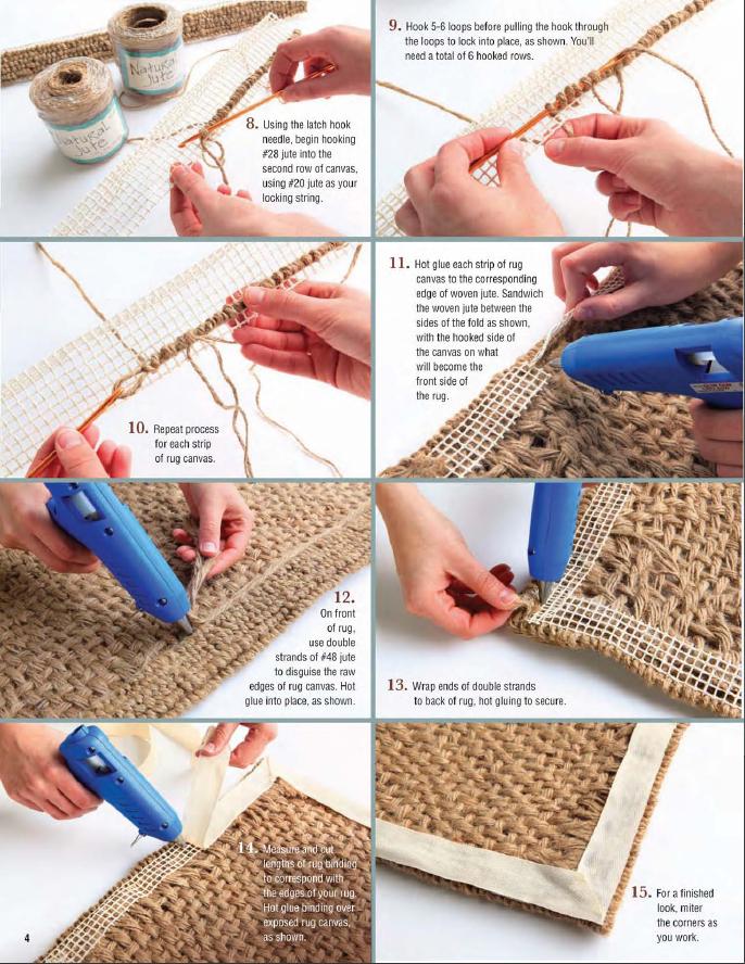 Jute Rug Part Ii Burlap Rope Crafts Diy Homemade Rugs