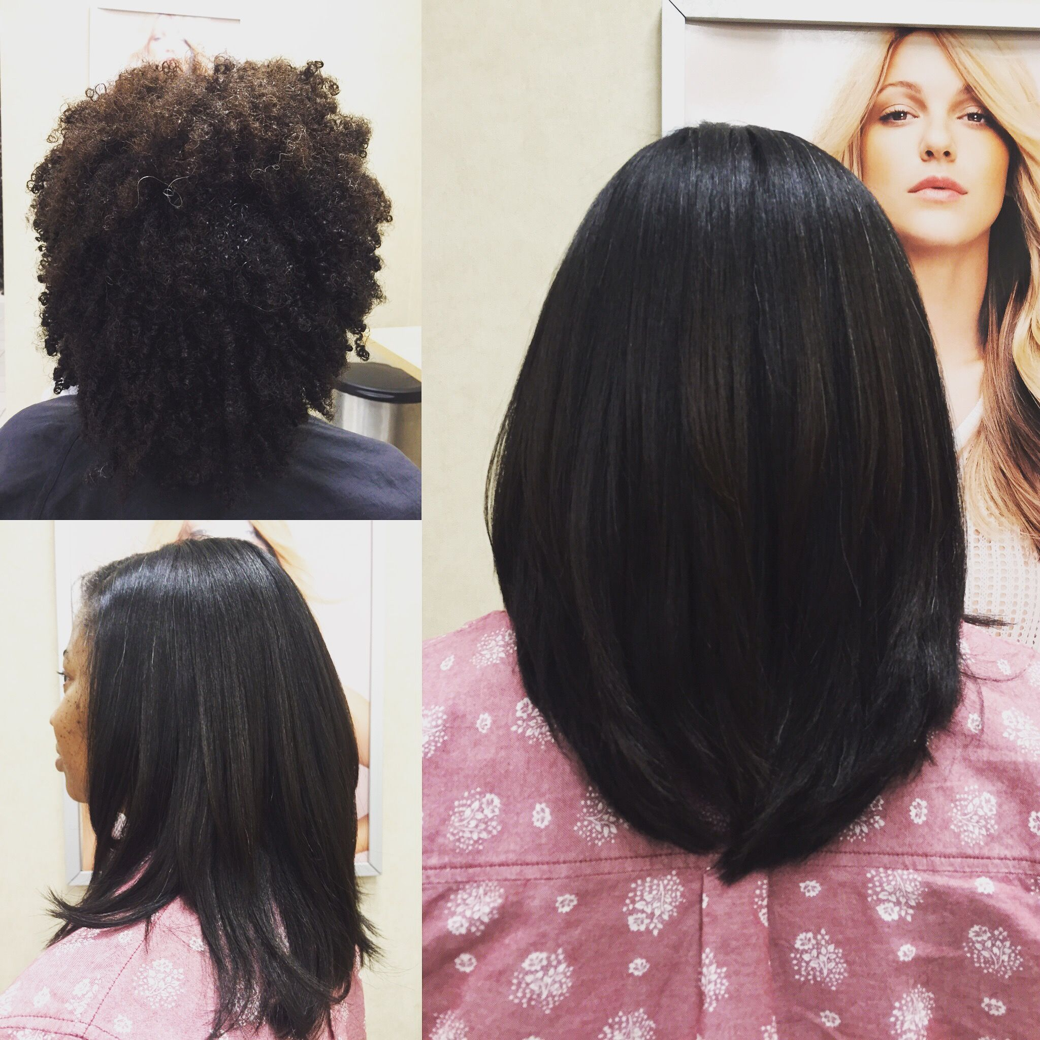 natural hair shampoo blowdry