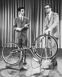 A very young Frank Zappa making his first-ever television appearance on The  Steve Allen Show in which he demonstrates how to play a bicycle, 1963