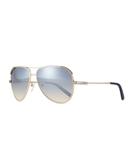 a53fbb86c28 Women S Nerine Brow Bar Aviator Sunglasses