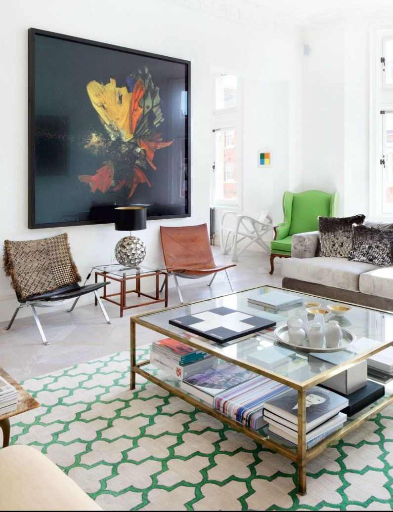 Eclectic Style living room featured in House