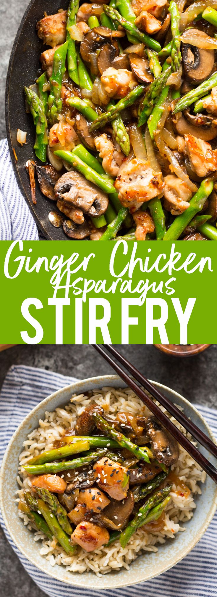 Ginger Chicken Asparagus Stir Fry Recipe Tlbl Asparagus Stir Fry Chicken Asparagus Ginger Chicken