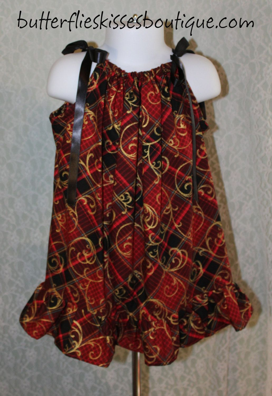 9a848d330 Handmade Christmas dress size 2-3T girls toddlers babies red black and gold  free shipping ready to ship asap etsy kids childrens clothing
