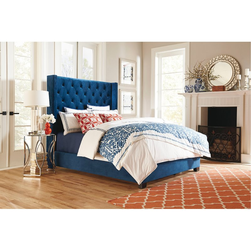 Traditional Blue King Upholstered Bed Westerly in 2019