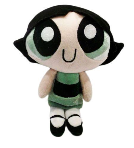 "2000 Cartoon Network Powerpuff Girls Talking Buttercup 9"" Plush Toy Doll USED"