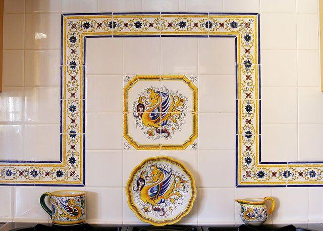 Installations Far Ridge Ceramics French Tile Italian Tiles Tile Backsplash