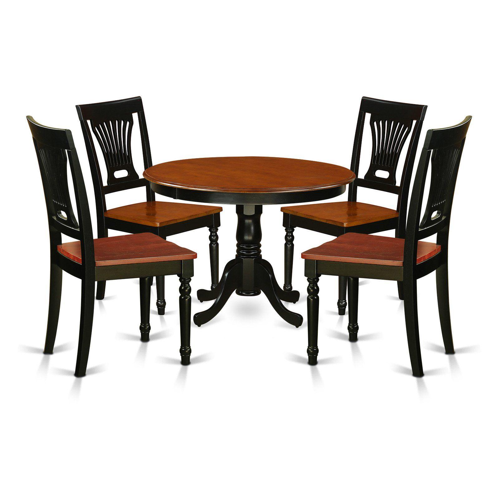 east west furniture hartland 5 piece empire dining table set in 2019 rh pinterest com
