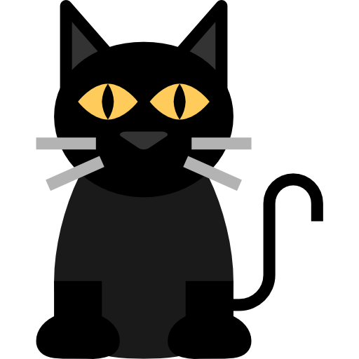 Black Cat Free Vector Icons Designed By Mavadee Vector Icon Design Cat Icon Vector Free