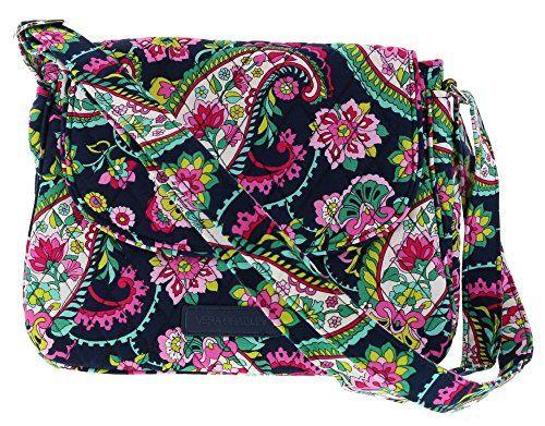 Vera Bradley Medium Flap Crossbody Messenger Bag Shoulder...  280d1bfb93b4c