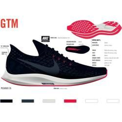 Photo of Nike Herren Laufschuhe Air Zoom Pegasus 35, Größe 42 ½ In Black/armory Navy-Platinum Tin, Größe 42 ½
