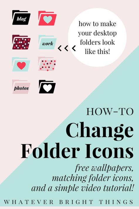 Learn how to replace those blah blue folders with your own custom icons & photos, or download one of my free February Wallpapers & matching Folder Icons!