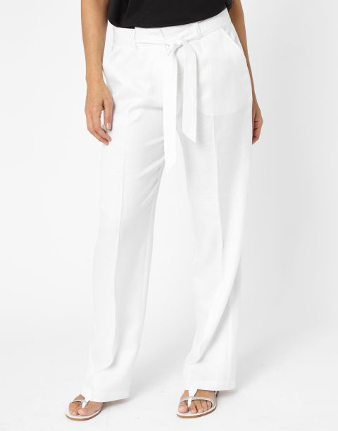7435d897857e Pantalon long uni blanc Femme - Jacqueline Riu   Summer white ...