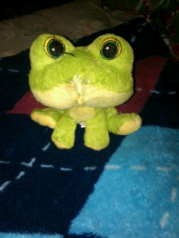 Paxtons froggy...i just had to sew it up for the 10+ time...