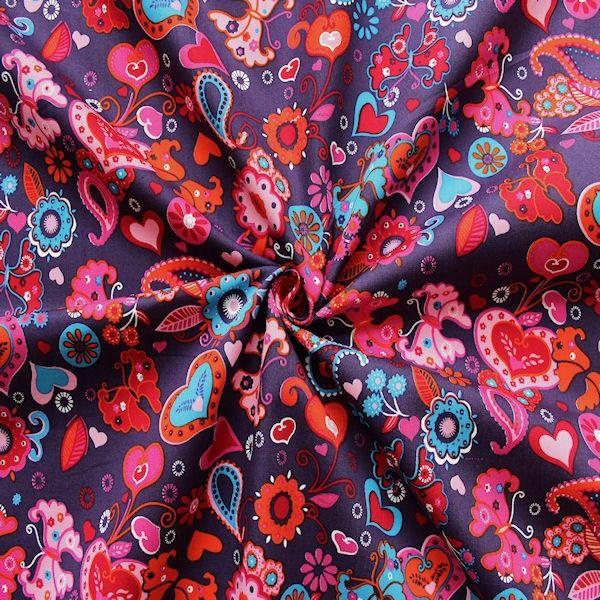 Traumhafter Blumen-Schmetterlings-Stoff 100% Baumwolle ...