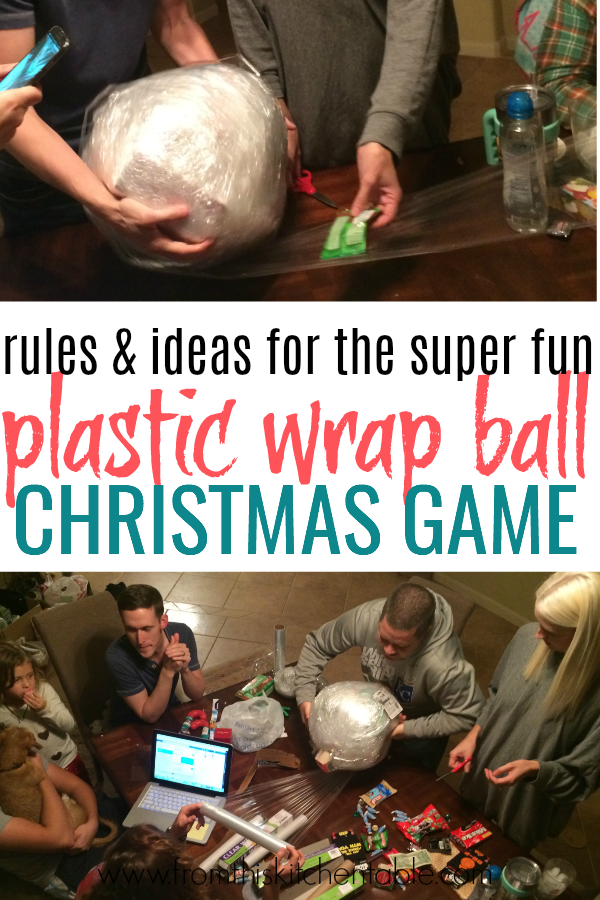 This Saran wrap ball game is SO much fun Heres how to play and ideas for what to put inside This is perfect for your family Christmas or with friends
