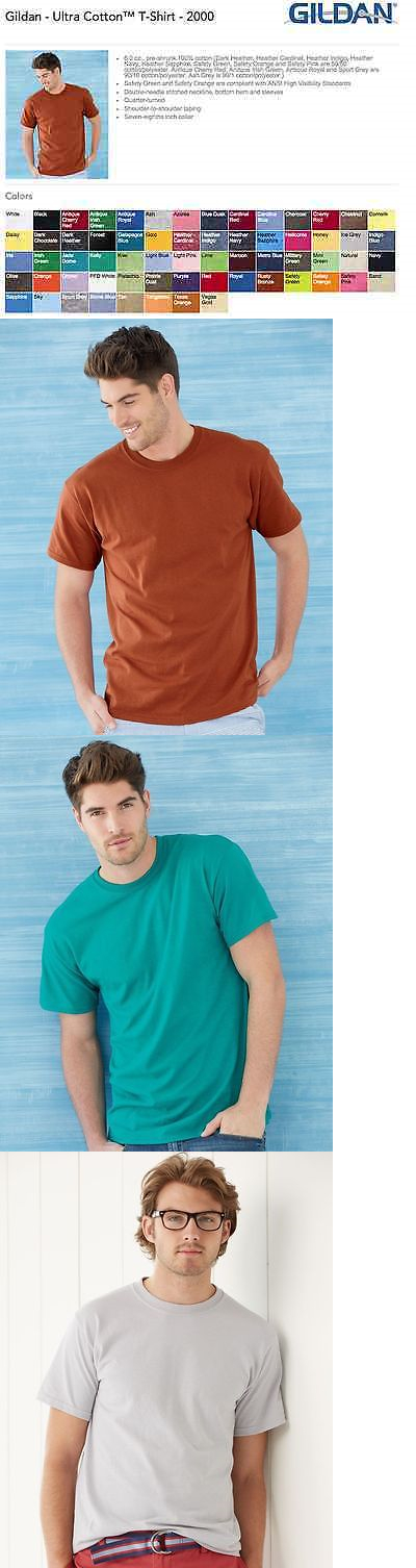 210452feddff Shirts 50976: Gildan Ultra Cotton T-Shirts Blank Bulk Lot Colors Or White  S-Xl Wholesale -> BUY IT NOW ONLY: $73.5 on eBay!
