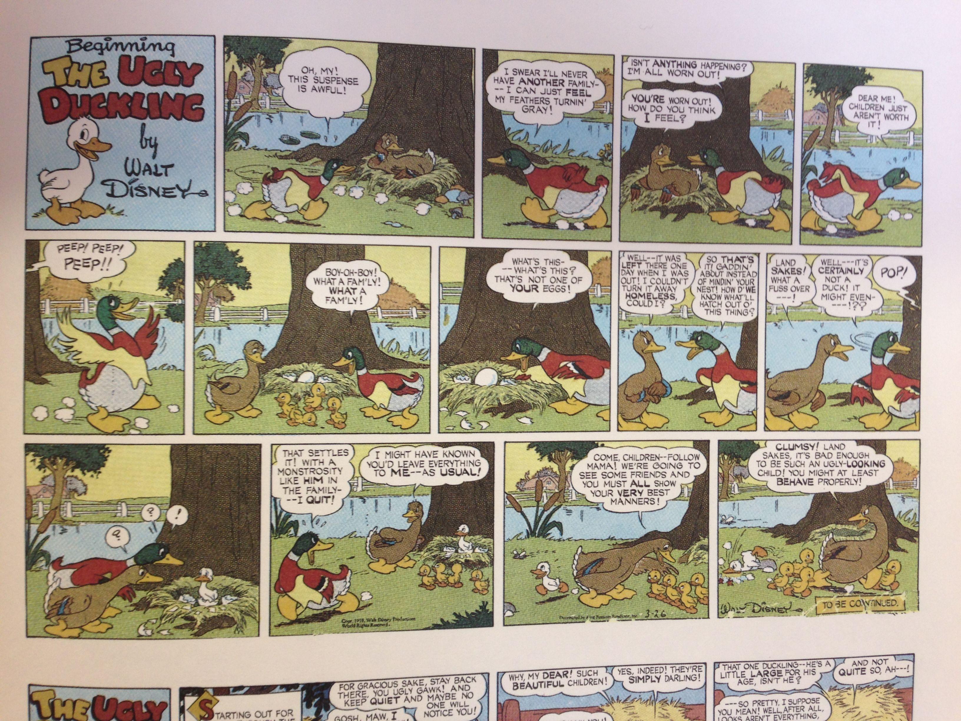 disney ugly duckling comic honk directing capstone pinterest