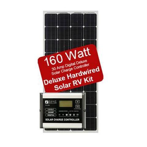 Rv Solar Kit Zamp Solar 160w Deluxe Kit Campervan Hq Rv Solar Rv Solar Power Solar Kit