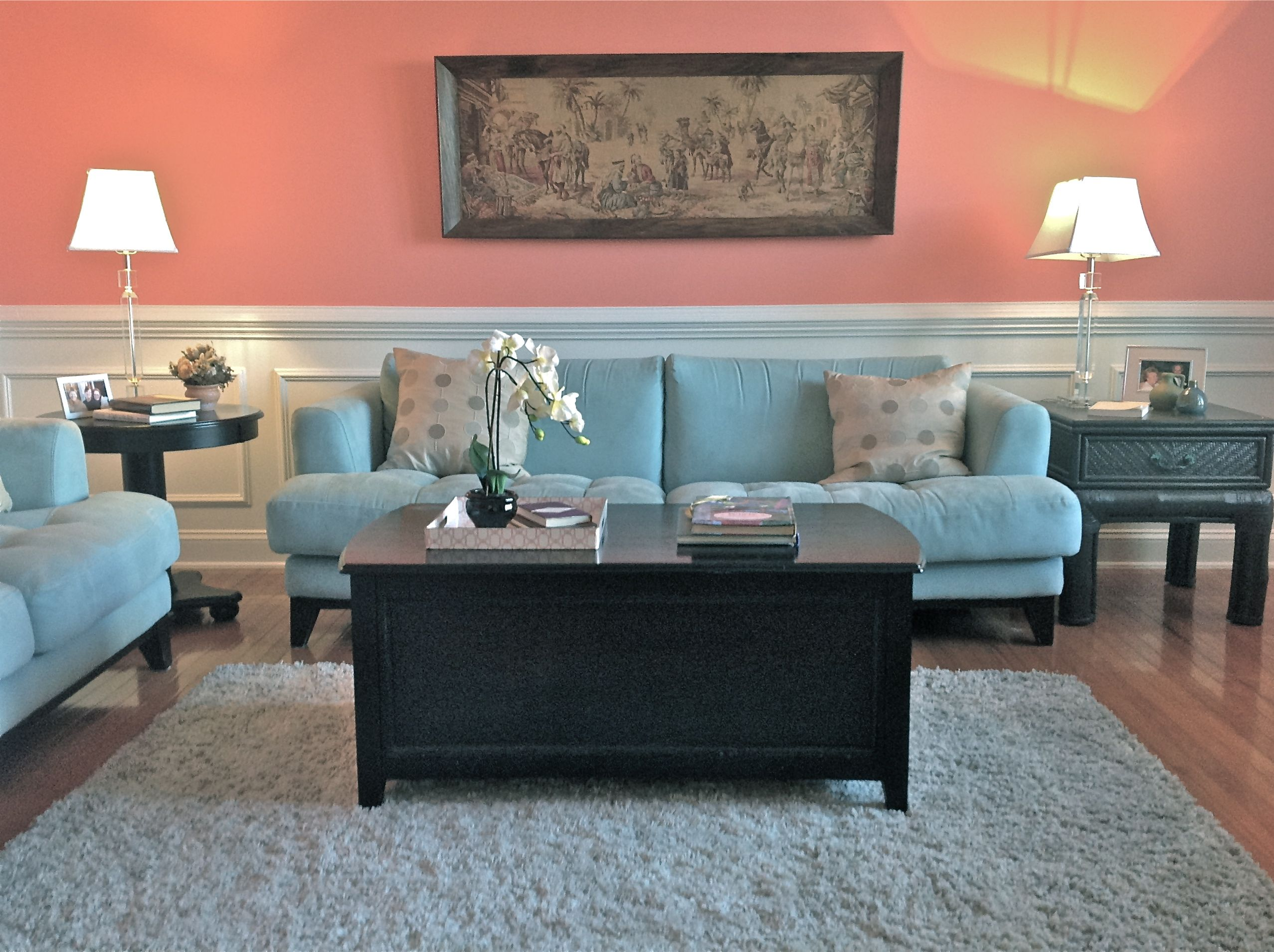 Coral living room my designs pinterest for Coral living room ideas