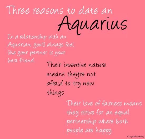 Dating a aquarius male