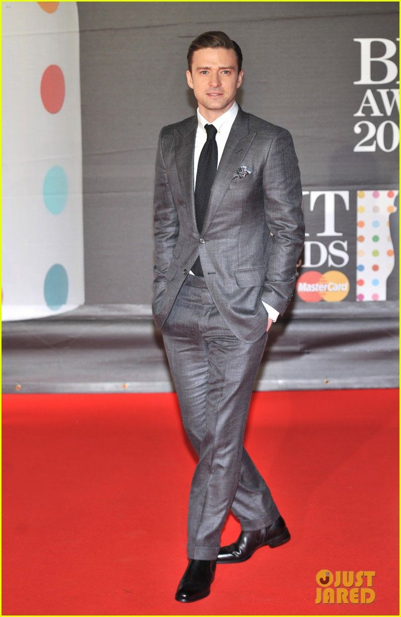 Groom! Justin Timberlake - BRIT Awards 2013 Red Carpet