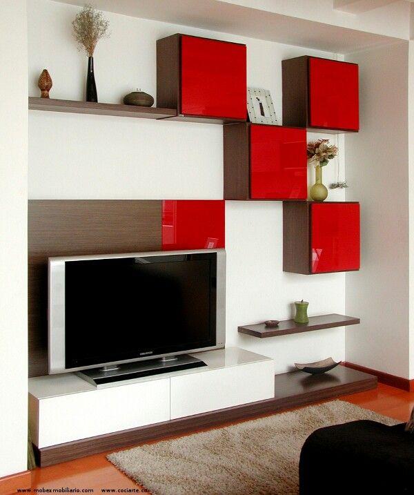 Centro de entretenimiento para espacios peque os salas for Salas modernas en espacios pequenos